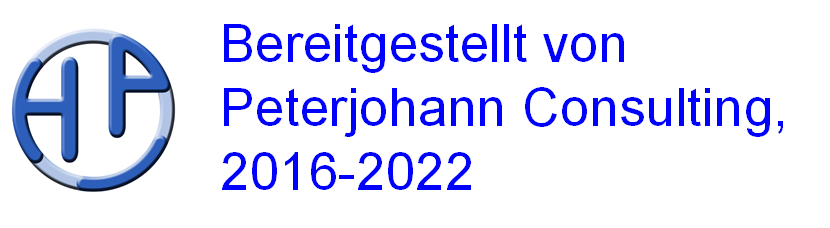 Bereitgestellt von Peterjohann Consulting, 2016-2020